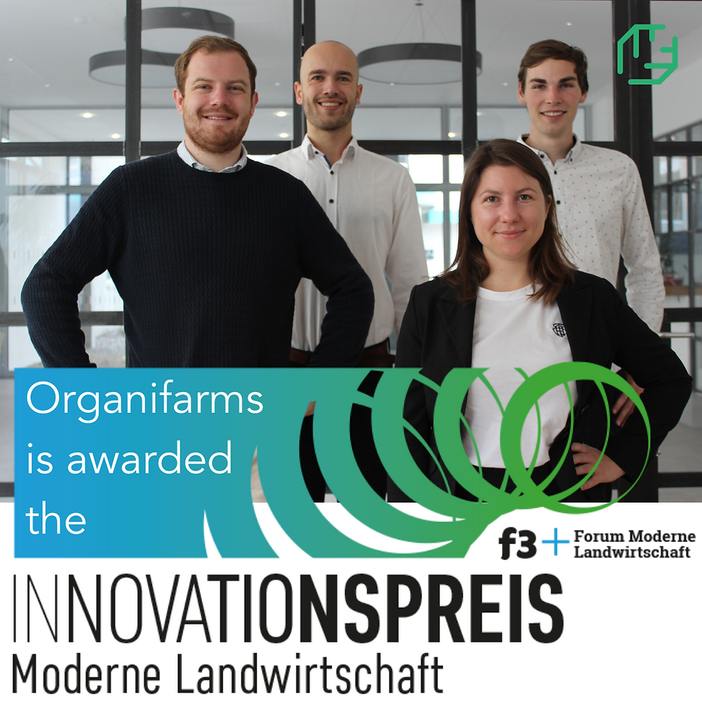 Organifarms is awarded the Innovationspreis Moderne Landwirtschaft