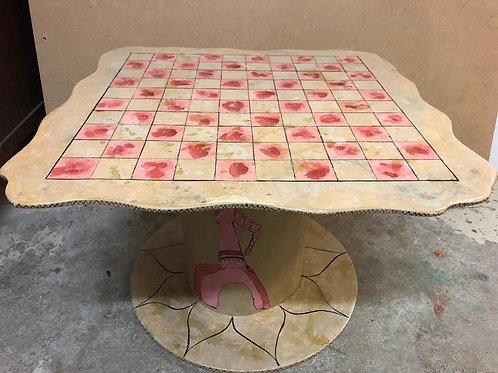 ATELIER CREATIF 12PERS JEUX DE SOCIETE ET TABLE EN CARTON RECYCLE AVEC EVE