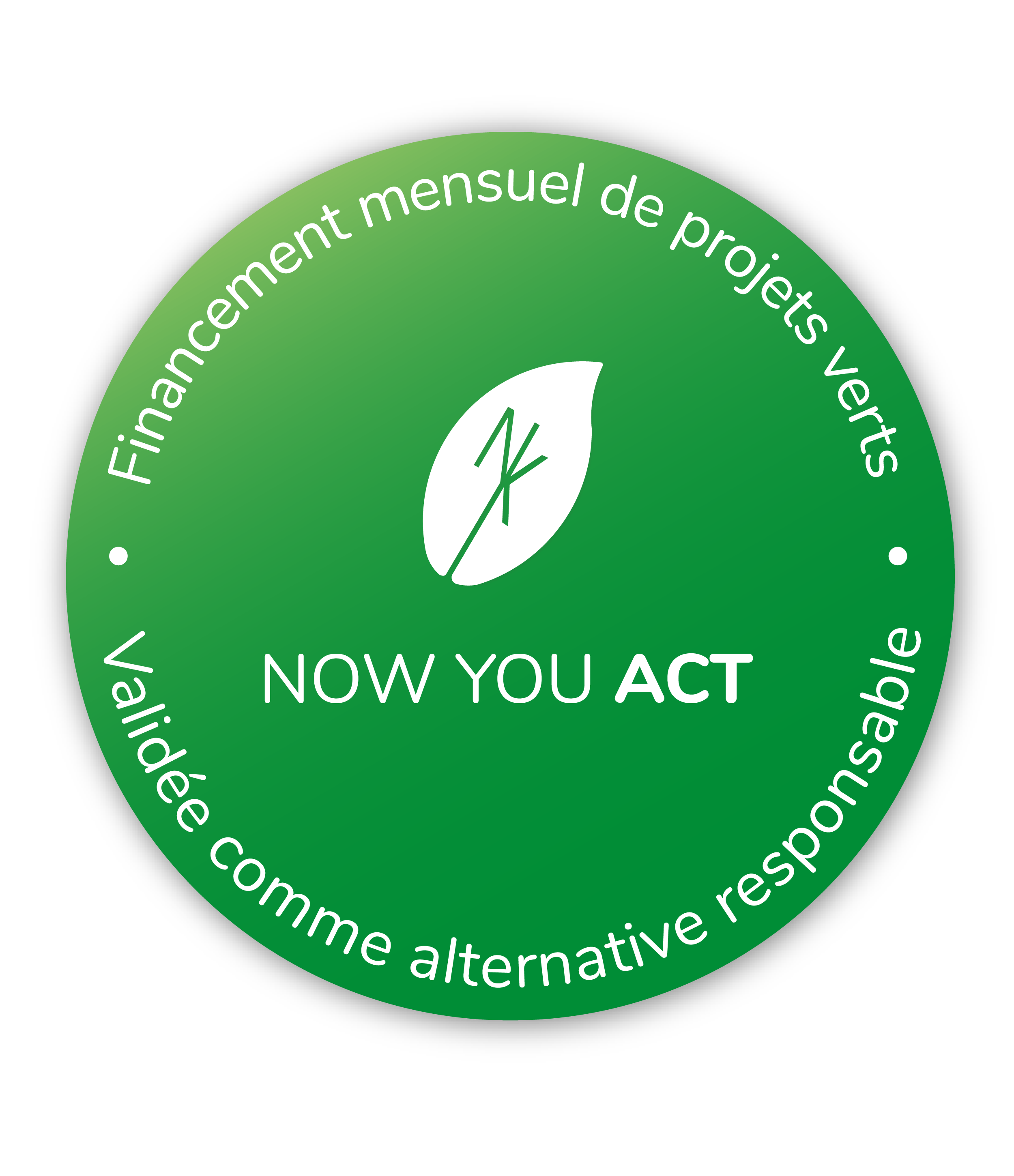 Badge de certification-Now You Act-World