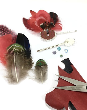 Photo barrette Aigrette en fabrication A