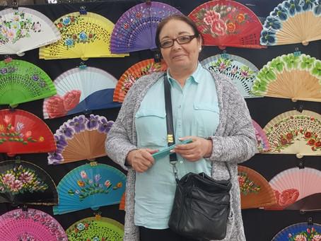 MAMA ANGELES, Artiste Peintre espagnole et embellisseuse d'éventails…