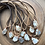 Thumbnail: Moonstone Necklace - wire wrapped moonstone necklace suede leather