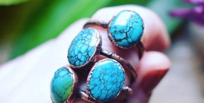 Turquoise Ring - Genuine Arizona Turquoise
