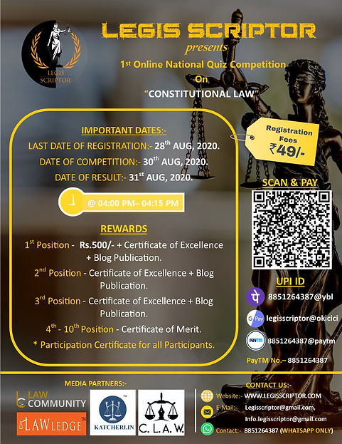 1st Online National Quiz Competition By