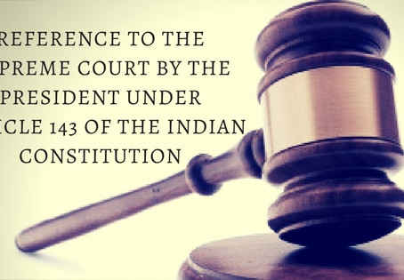 Case Analysis: Re Special courts Bill AIR 1979 SC 478