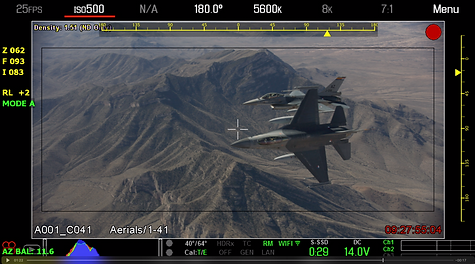 F16's break over Arizona ground