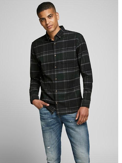 Chemise à carreaux Olive - Jack & Jones