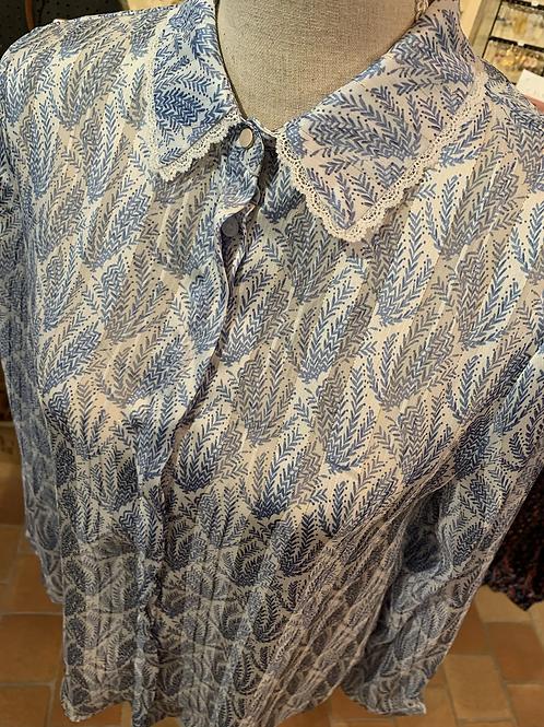 Chemisier bleu 4308