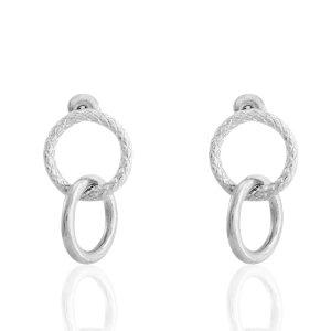 Boucles d'oreilles argenté - Acier inoxydable