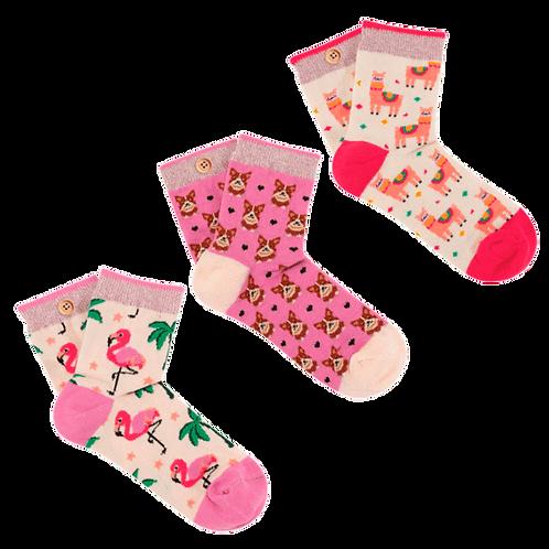 Pack de 3 paires de chaussettes les inséparables Cabaïa enfant