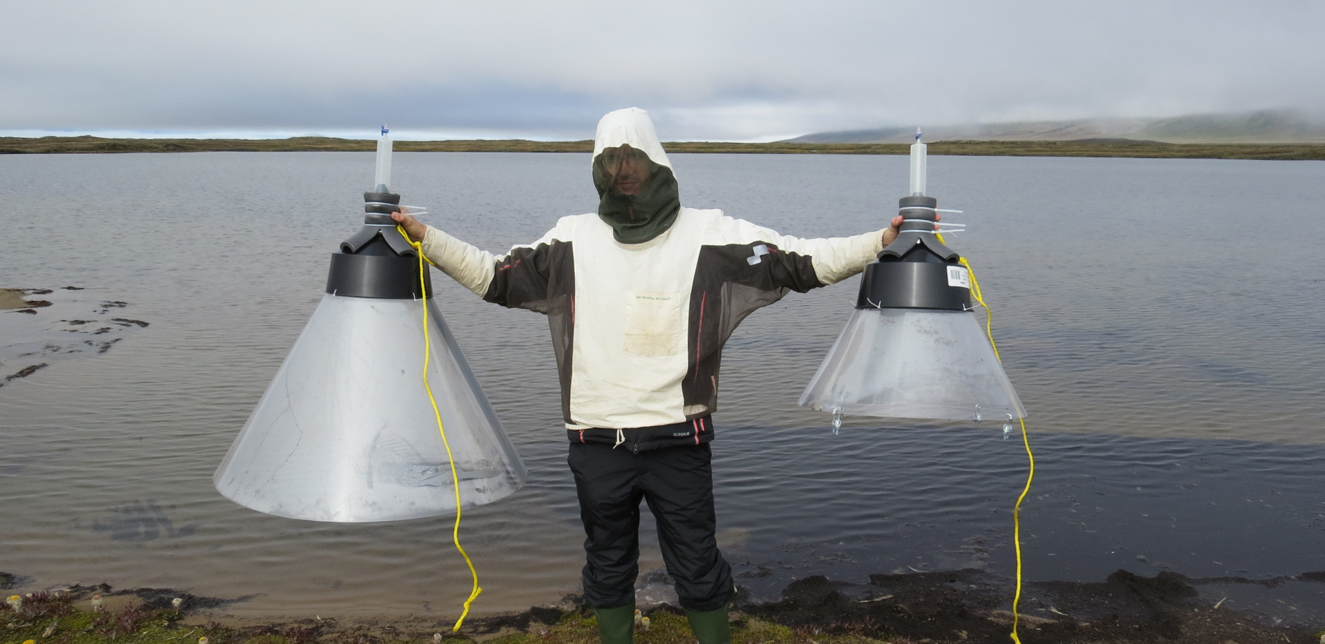 Bubble traps before their installation in a lake