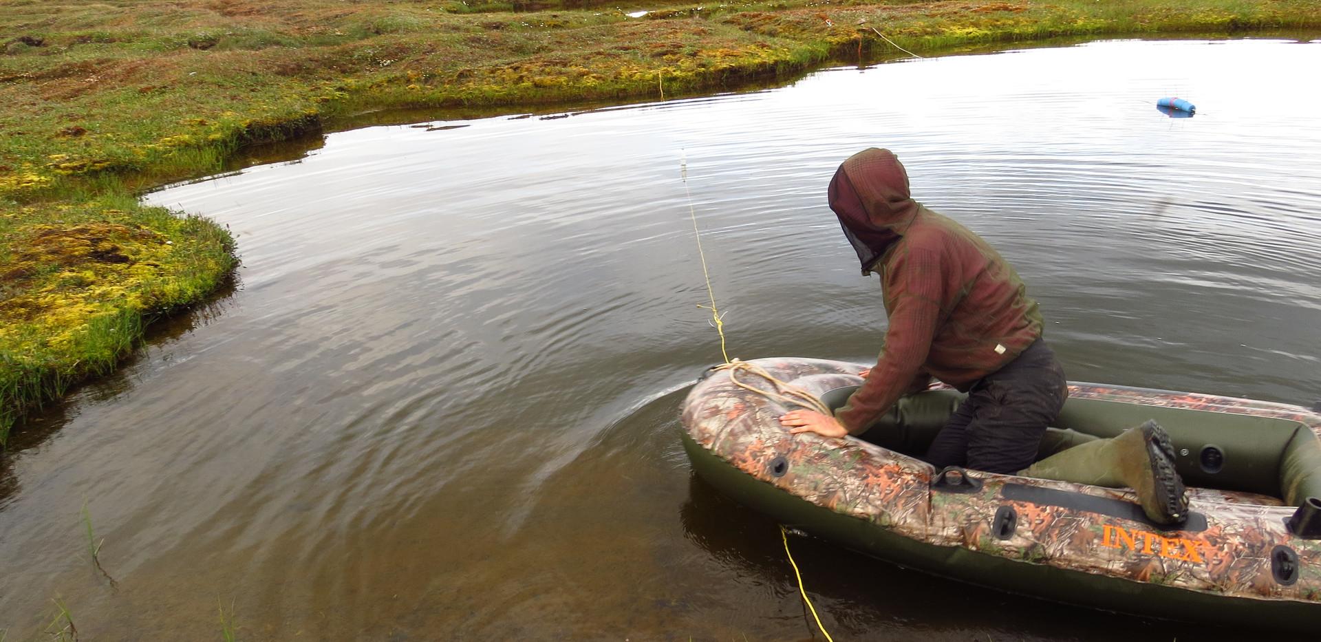 Small lake – small boat