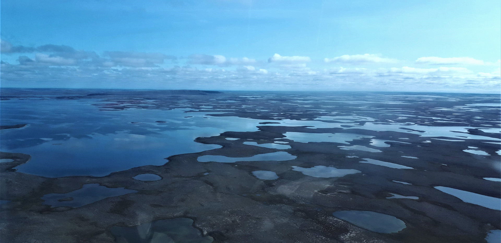 Flying over the Greiner Lake watershed