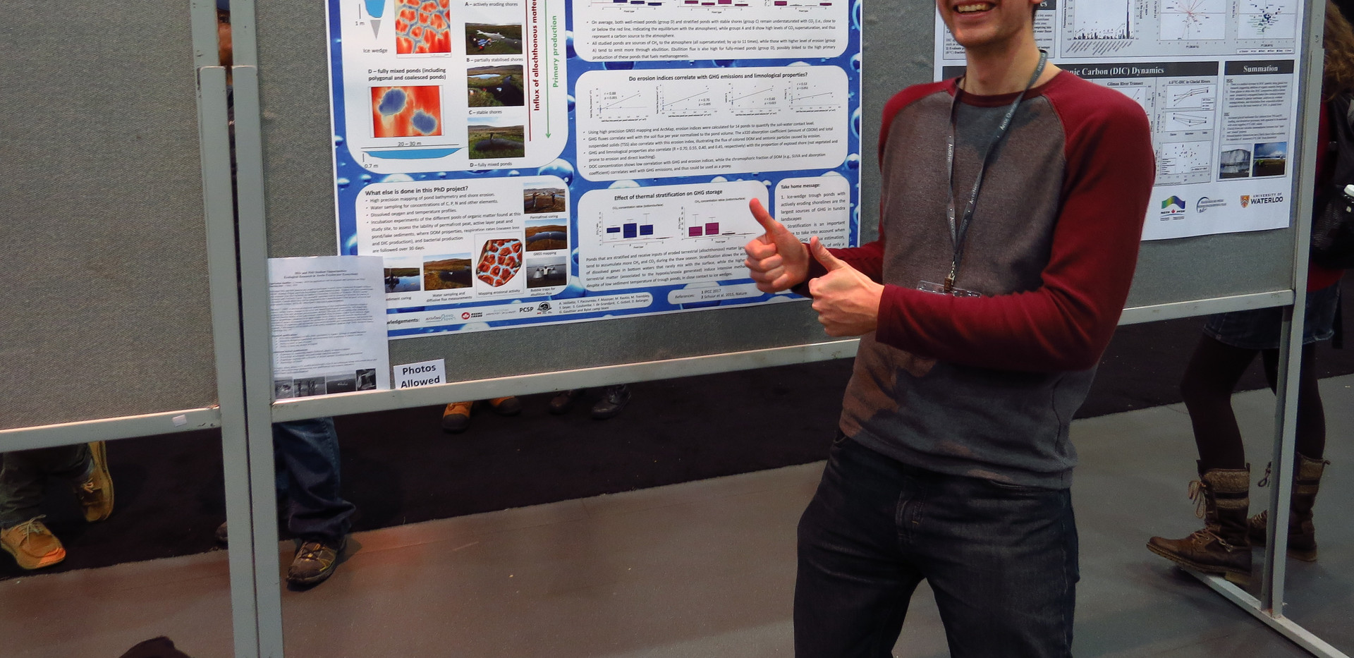 Extra excited poster presenter