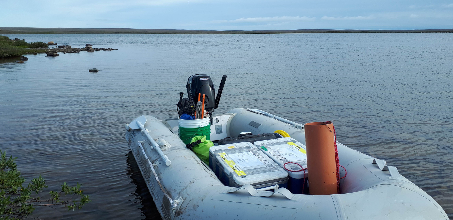 Ready to go get some water samples on lake VG3