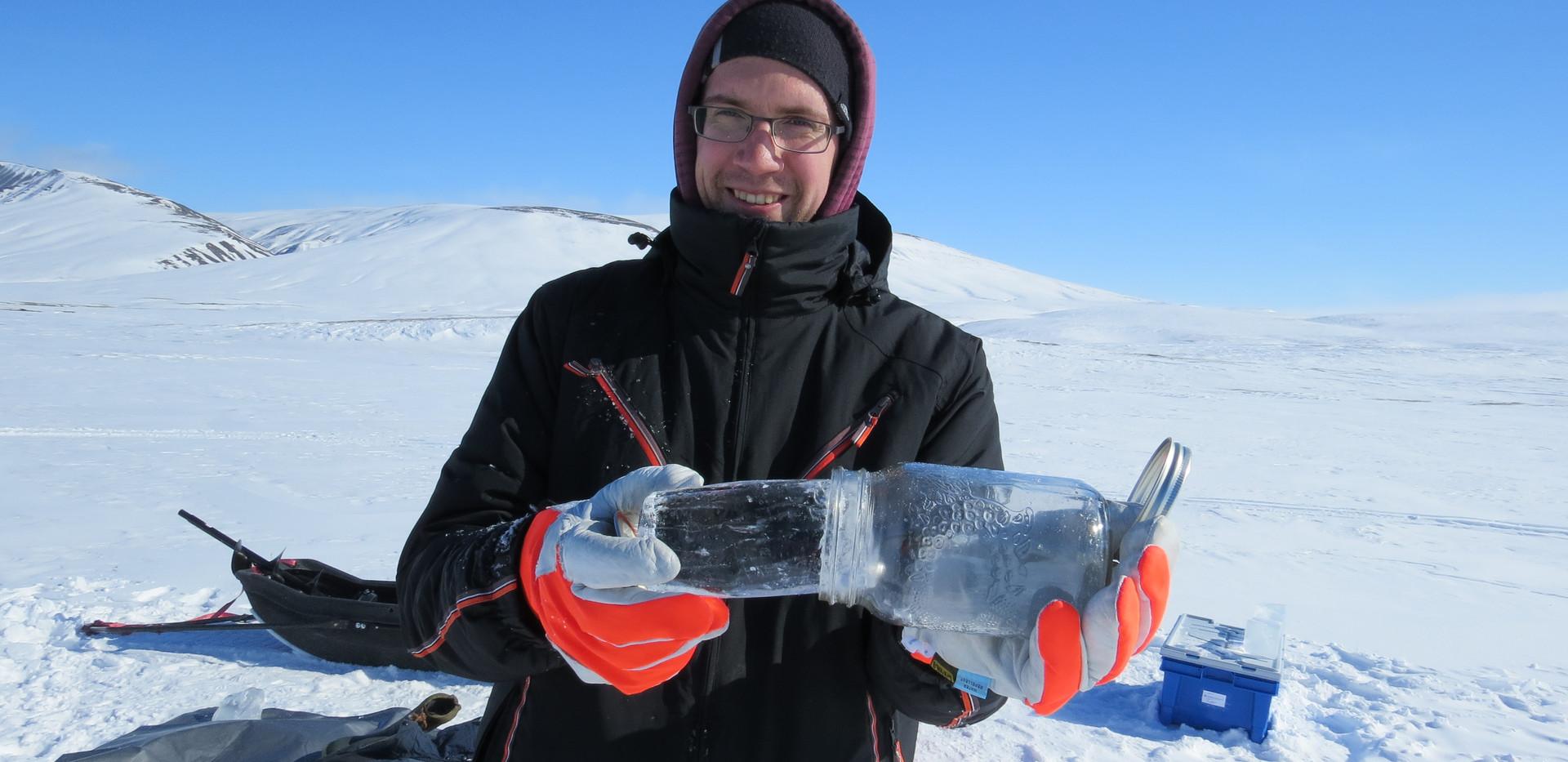 Lake ice sampling