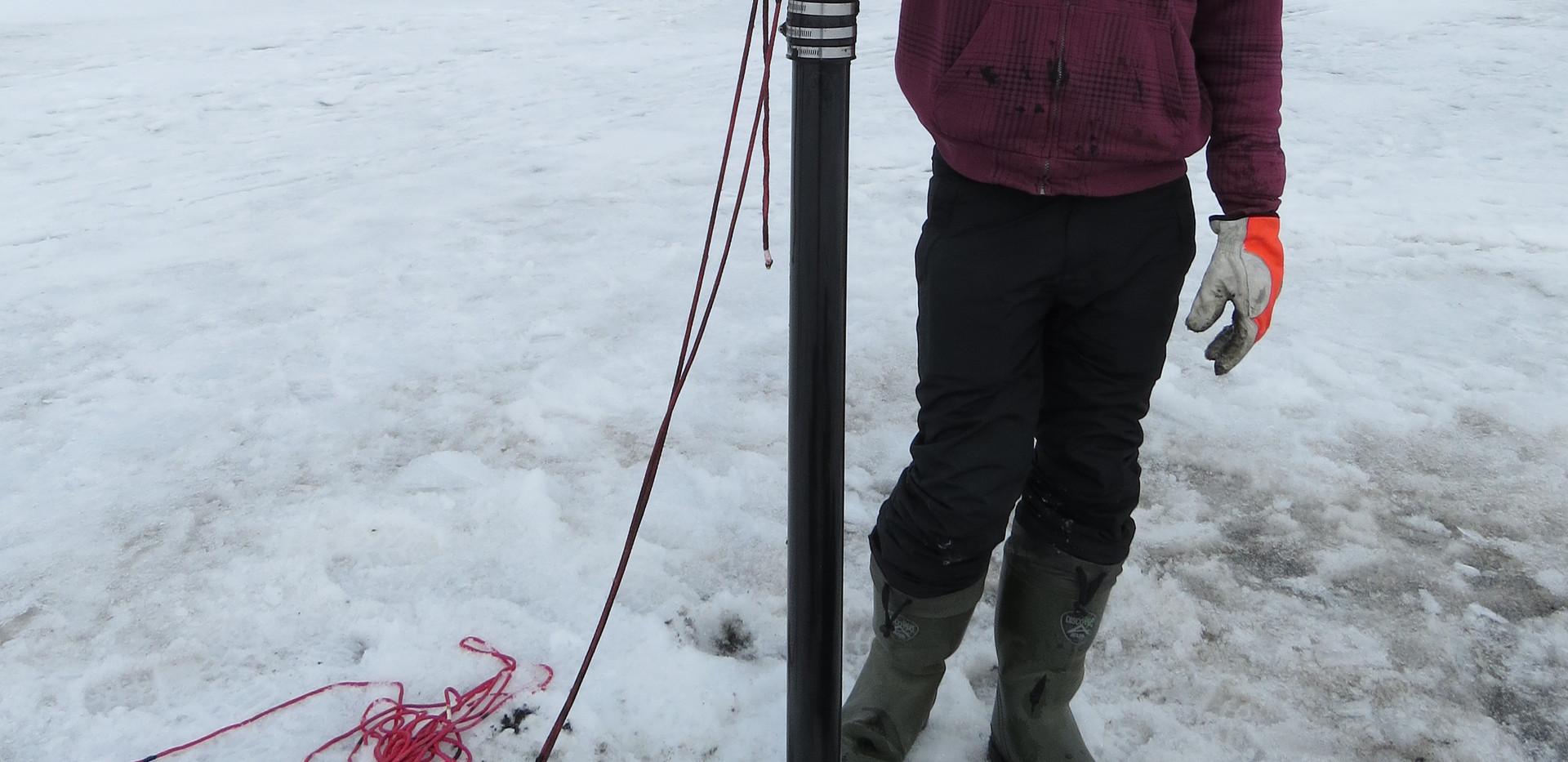 Successful lake sediment coring