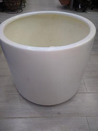 White Circular Pot