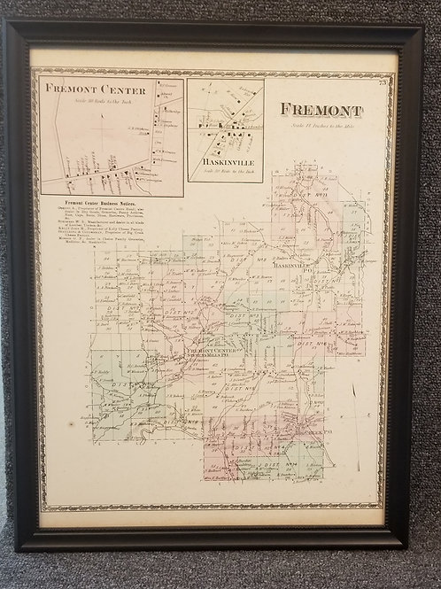 Town of Fremont map