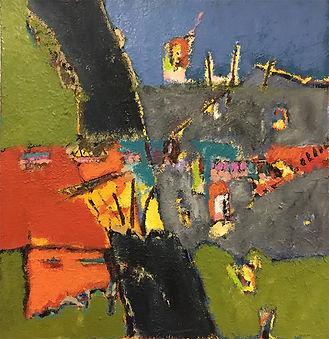 Anto Tomasini huile sur toile 2 80 cm x