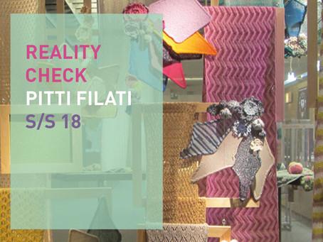 Reality Check Pitti Filati S/S 18
