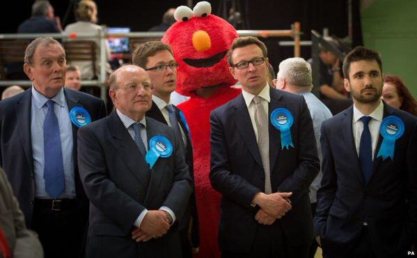 Elmo photobombing tories