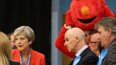 Elmo vs Theresa May. 2017 general election.
