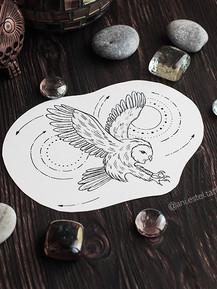 Эскиз тату геометрия сова