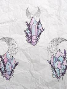 Эскиз тату графика кристаллы