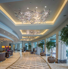 GRAND TARABYA HOTEL ISTANBUL LOBBY / BLOWN GLASS INSTALLATION