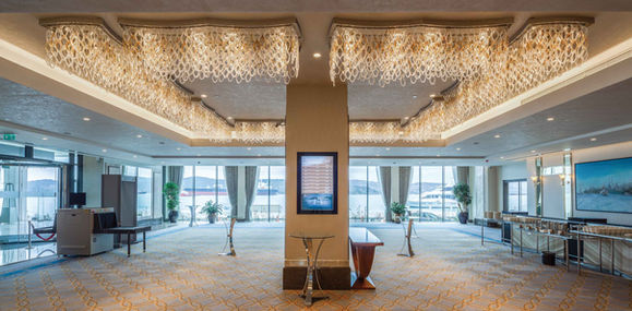 GRAND TARABYA HOTEL ISTANBUL BALLROOM FOYER / LIGHTING
