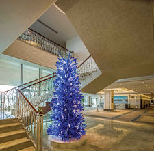 GRAND TARABYA HOTEL ISTANBUL BALLROOM STAIRS HALL  / GLASS ART WORK