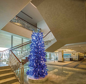 GRAND TARABYA HOTEL ISTANBUL BALLROOM STAIRS HALL  / GLASS ART WORK