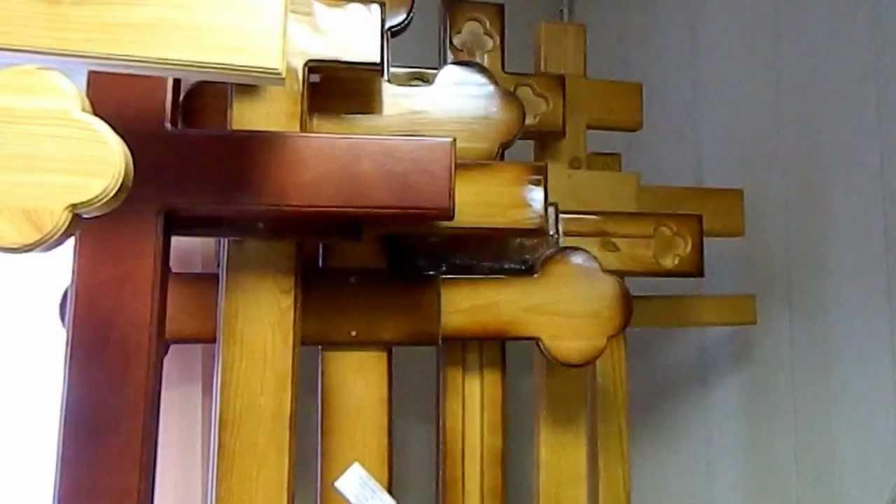 Надгробные кресты на могилу - деревя