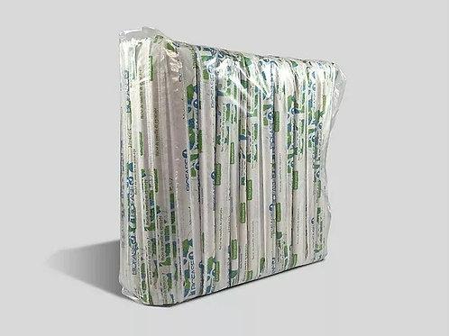 Popote estuchado corrugado caja biodegradable