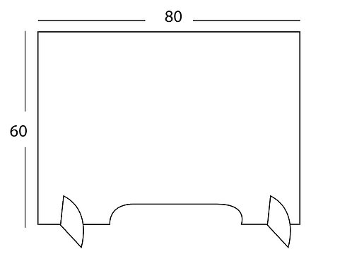 PANTALLA TRANSPARENTE 60X80