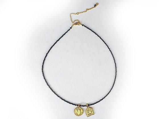 Collar doble medallita