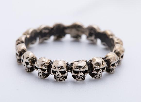 Anillo rueda skull