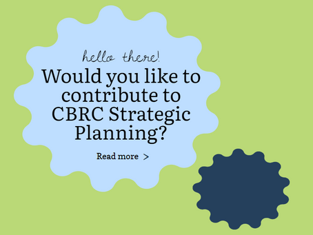 CBRC Strategic Planning Announcement