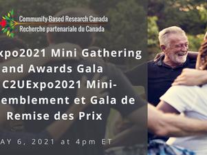 Community Based Research Canada: C2UExpo2021 Mini Gathering and Awards Gala