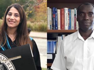 New CCBR staff: Jean de Dieu Basabose and Sherry Rezvani