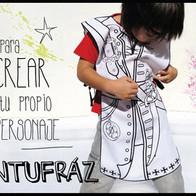 Creación de la marca PINTUFRAZ, disfraces para colorear.