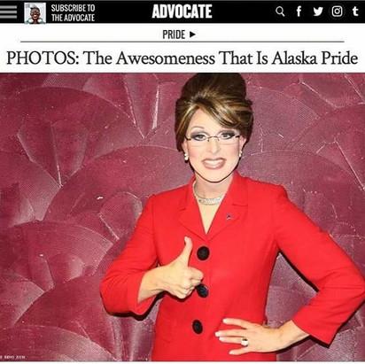 Gigi as Sarah Palin