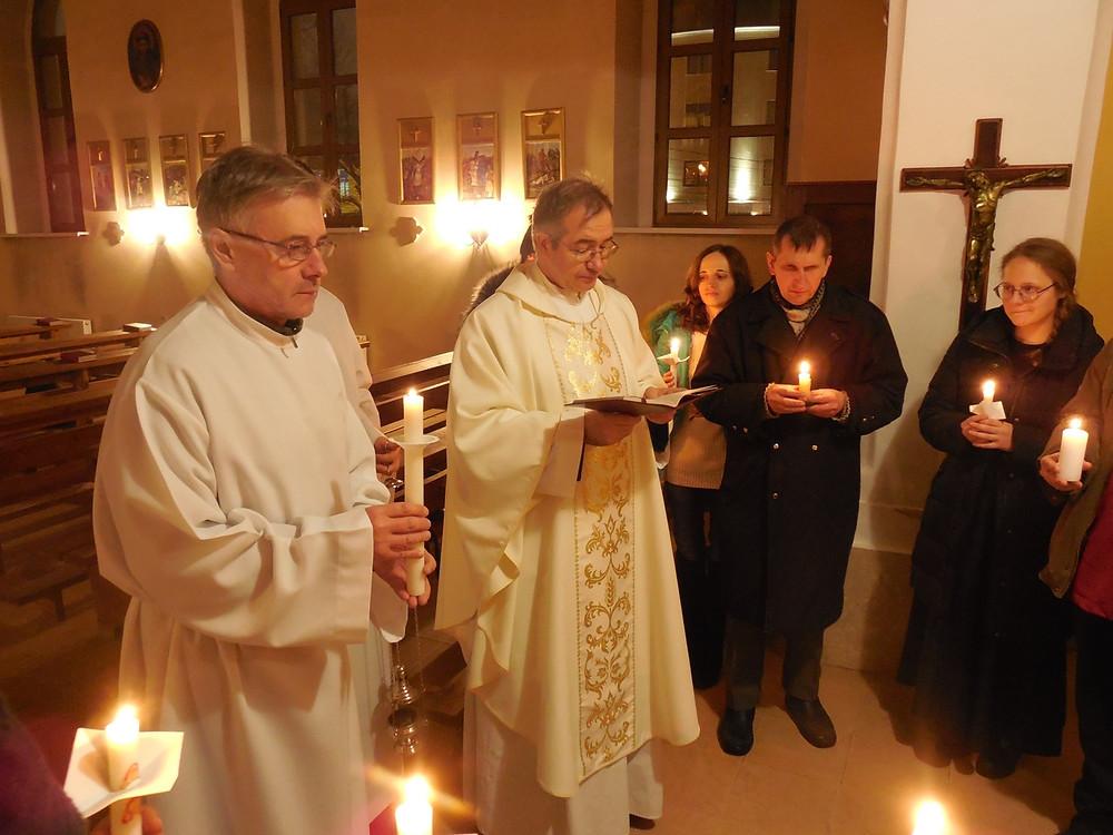 Освящение свечей
