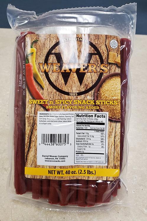 Weaver's Sweet & Spicy Snack Sticks (2.5lbs.)