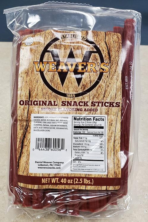 Weaver's Original Snack Sticks (2.5lbs.)