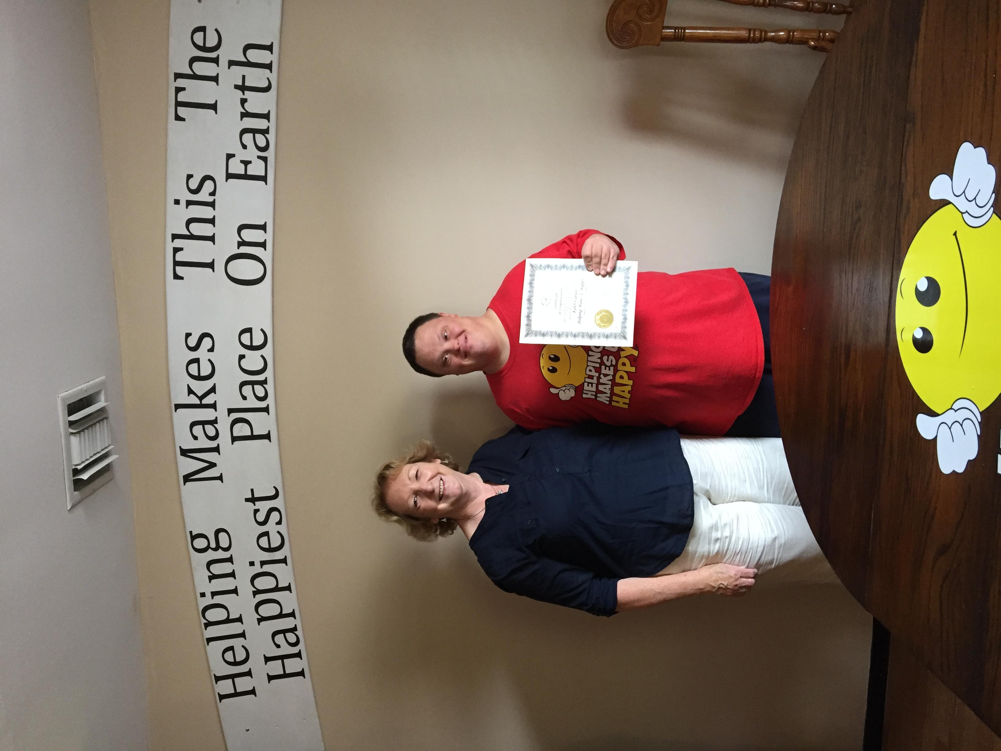 With Legislator Kate Browning