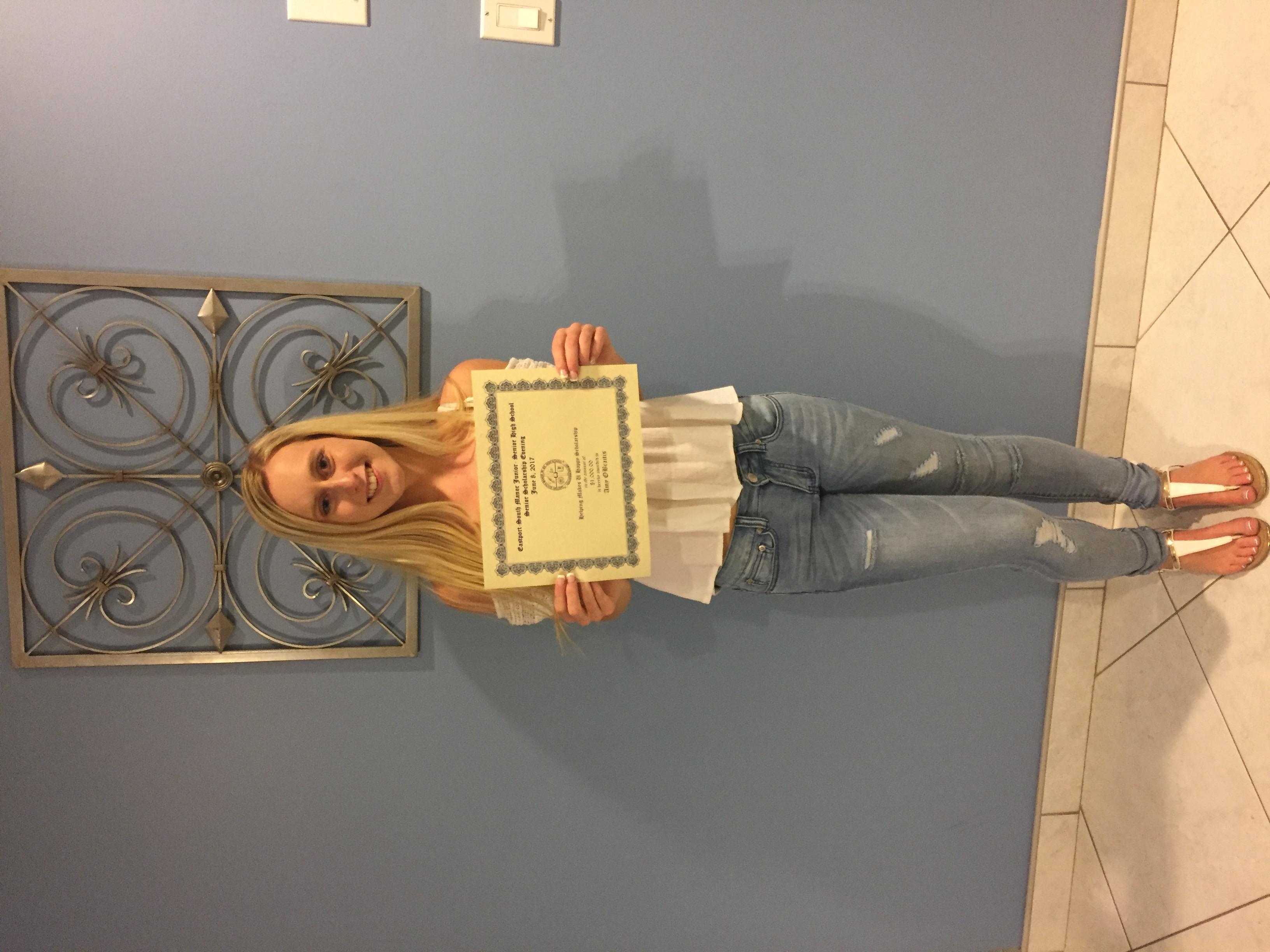 ESM Scholarship Recipient
