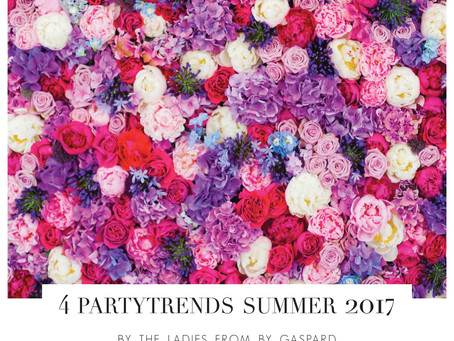 4 partytrends for summer 2017 // By Gaspard