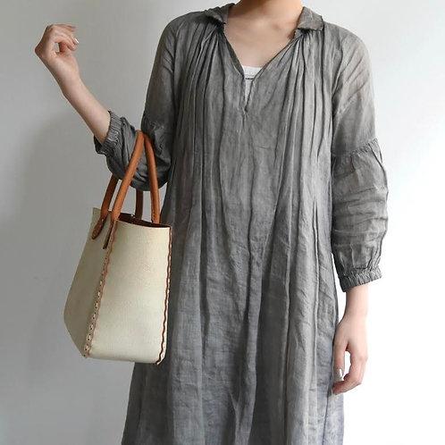 Dove & Olive|白鞄手縫いハンドル#S